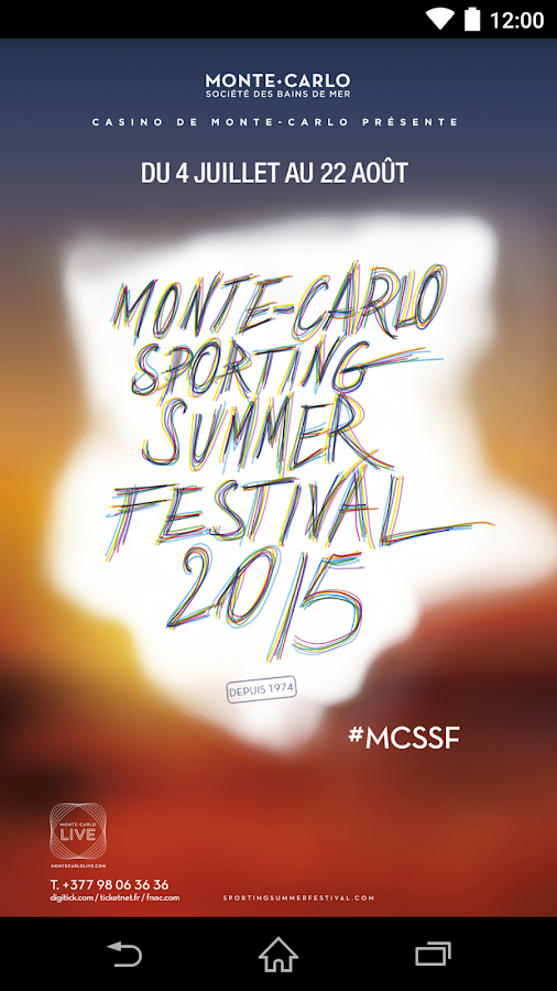 MC Sporting Summer Festival – Capture d'écran