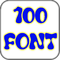 100 font pack for Galaxy icon