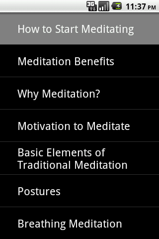 How to Start Meditating - screenshot
