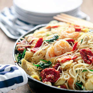 Sun Dried Tomato Pasta with Shrimp