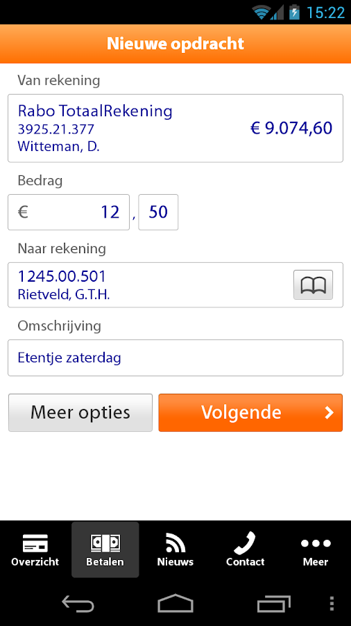 Rabo Bankieren - screenshot