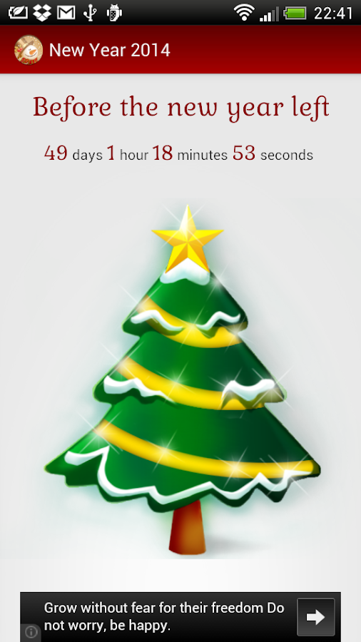 New Year 2014 count down timer - screenshot