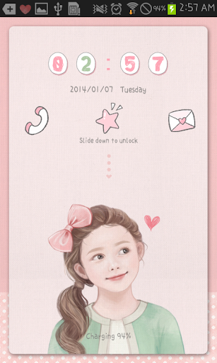 Little Girl go locker theme