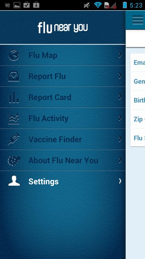 Flu Near You - screenshot