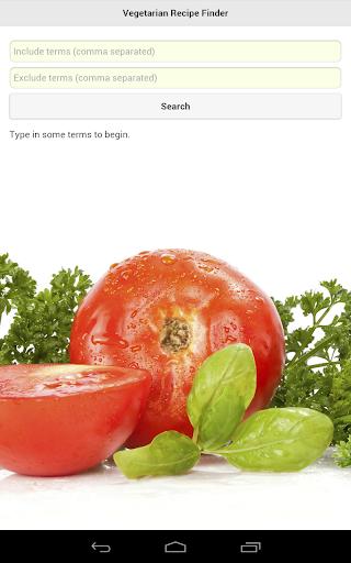 Vegetarian Recipe Finder