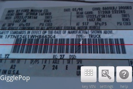 VIN Barcode Scanner - screenshot thumbnail