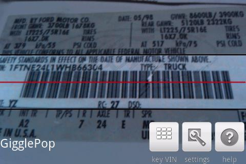 VIN Barcode Scanner- screenshot