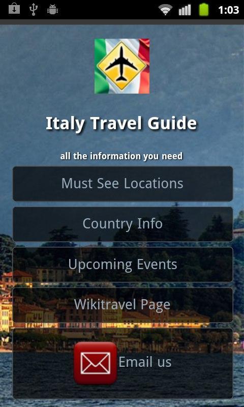 Italy Travel Guide- screenshot