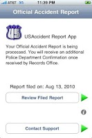 Screenshot of USAccident Dispatch App