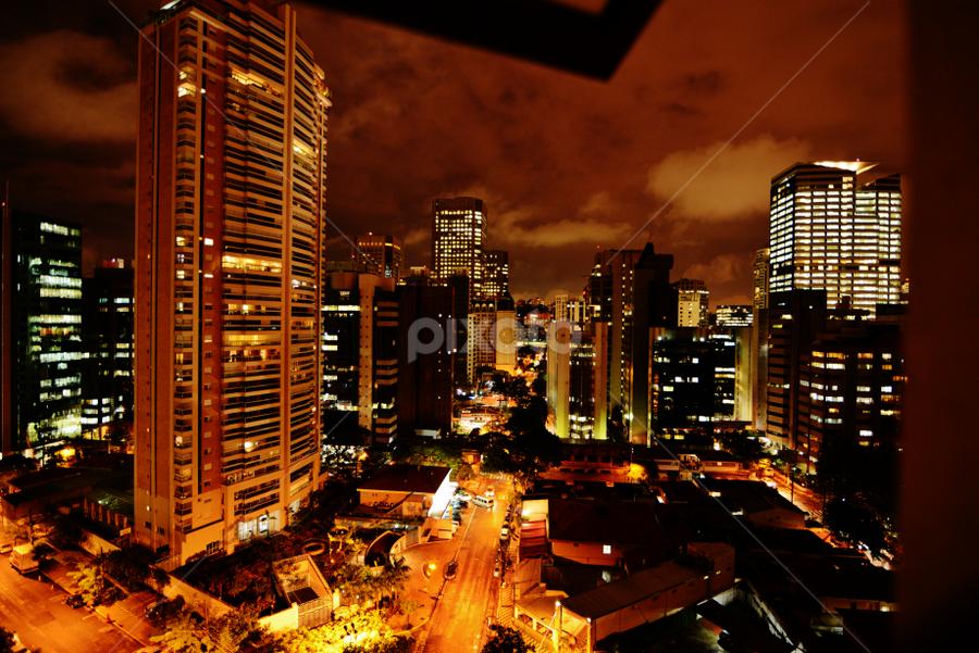Sao Paulo by Marcello Toldi - City,  Street & Park  Night