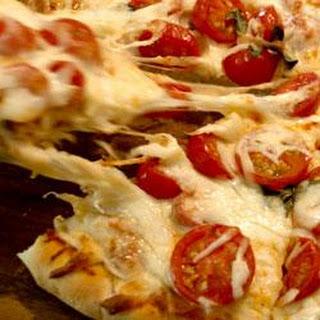 Fresh Tomato and Basil Pizza.