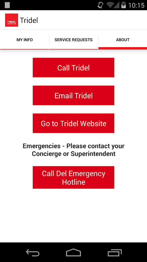 Tridel Home Service- screenshot