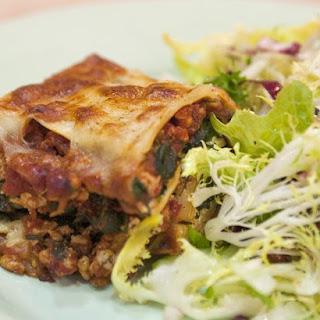 Turkey Lasagna with Spinach.
