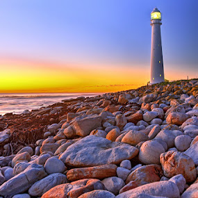 Slangkop by Robbie Aspeling - Landscapes Beaches ( sunset, lighthouse, sea, beach,  )