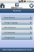 Screenshot of ECB GoMobile