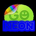 Blue neon theme GO SMS Pro logo