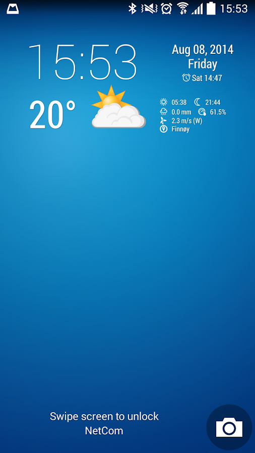 Simple Time & Weather Widget - screenshot