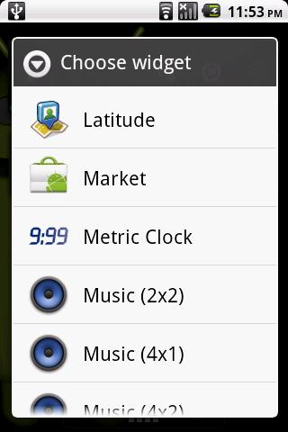 Metric Clock Widget - screenshot