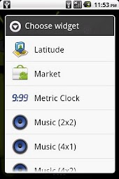 Metric Clock Widget