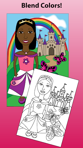 A Brown Princess Coloring Book
