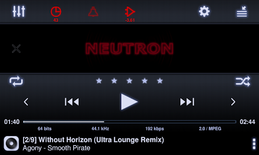 Neutron Music Player - screenshot thumbnail