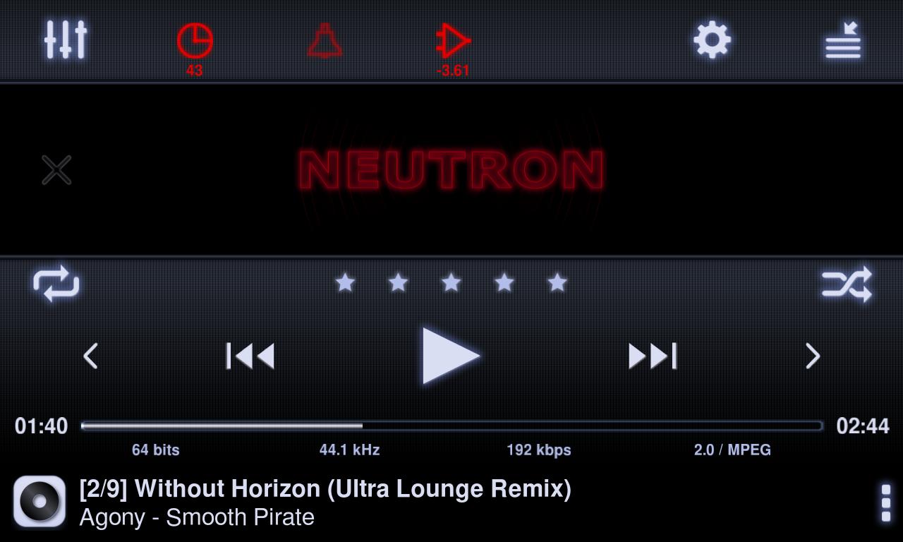 Neutron Music Player screenshot #9