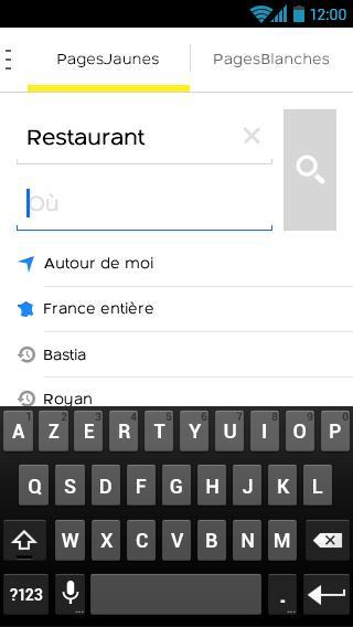 PagesJaunes – recherche locale - screenshot