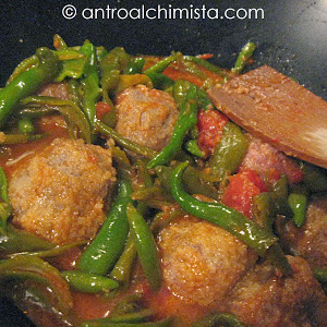 Meatballs with Peppers in a Tomato Sauce