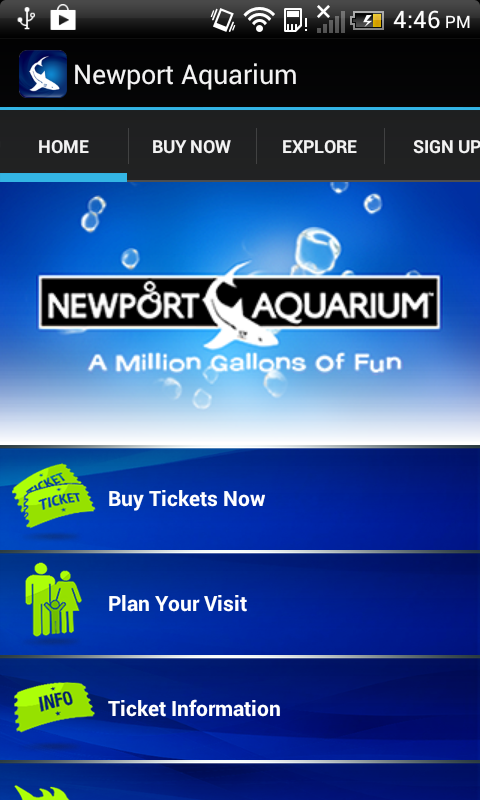 Newport Aquarium - screenshot