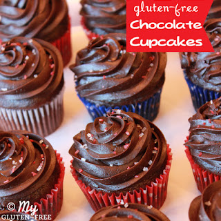 Chocolate Cupcakes with Fudge Frosting {Gluten-free}