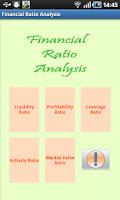 Screenshot of Financial Ratio Analysis