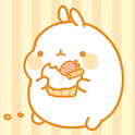 Molang Donut Yellow Atom theme icon