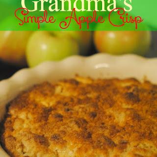 Grandma's Simple Apple Crisp Recipe #CookingwithToddlers #FarmtoTable