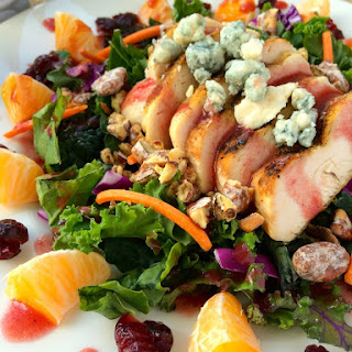 Grilled Chicken Winter Salad with Cranberry Vinaigrette