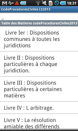 Code Procédure Civile LS2014