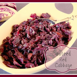Sauteed Red Cabbage With Bacon And Brown Sugar.