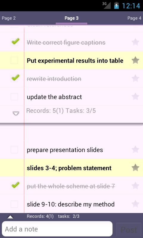 Silt - memo, todo & task lists - screenshot