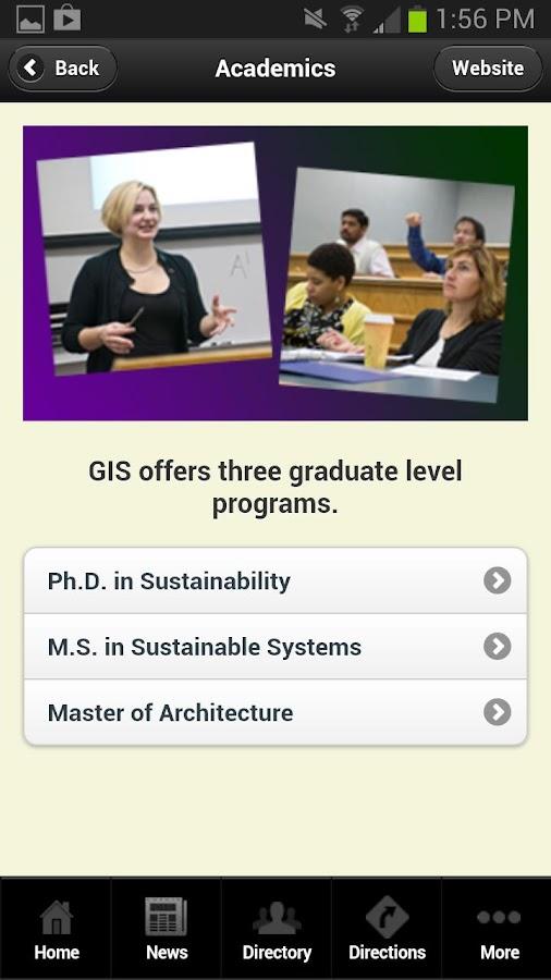 RIT GIS Mobile- screenshot