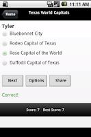Screenshot of Texas Capitals & City Slogans