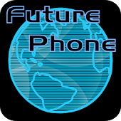 Future Phone Blue Theme Free
