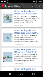 Disasters Alerts screenshot 0