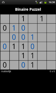 Binary Puzzle / Takuzu - screenshot thumbnail