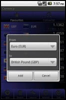 Screenshot of Forex Currency Rates