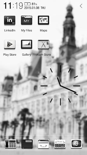免費下載個人化APP|クラシック ブラック アトム アイコンパック app開箱文|APP開箱王