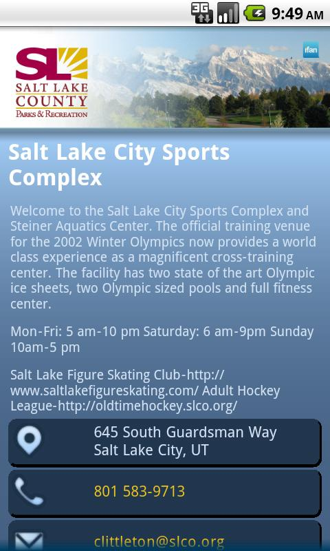 Salt Lake Parks & Recreation- screenshot