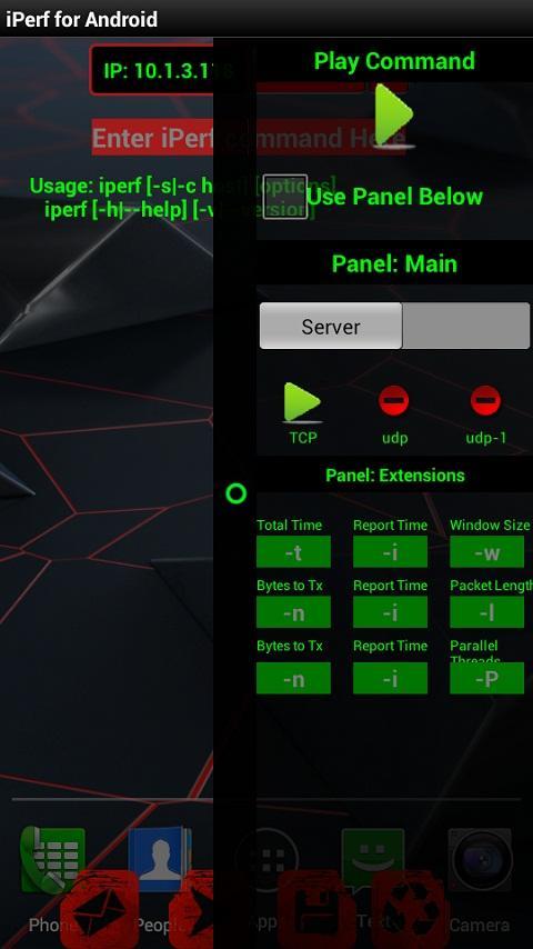 Iperf ext- screenshot