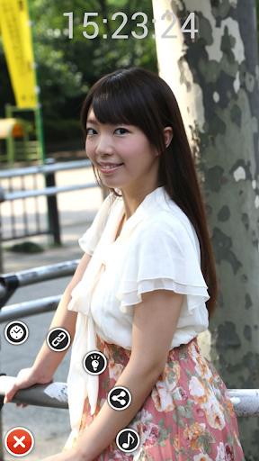 免費娛樂App|支倉りおの写真時計 feat.バクNEWクイーンコンテスト|阿達玩APP
