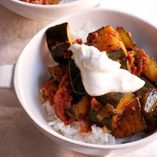 Zucchini and Tomato Curry.
