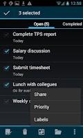 Screenshot of BHive Google Tasks