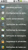 Screenshot of Handcent SMS Portuguese Langua